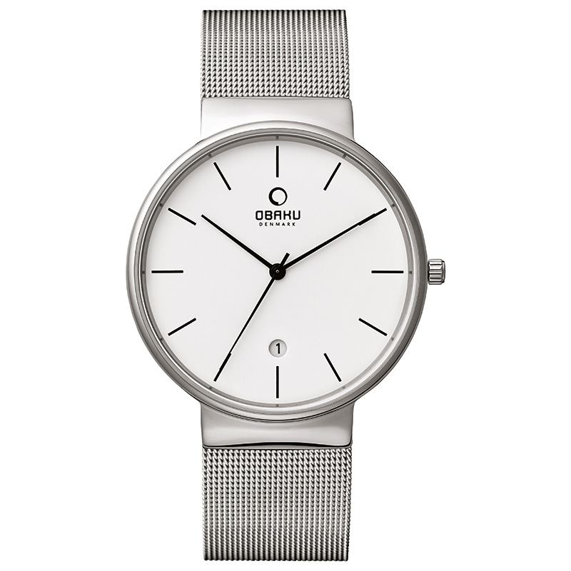 Obaku Men watch KLAR - STEEL
