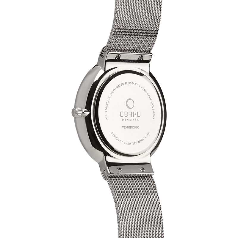Obaku Men watch KLAR - STEEL BACK view
