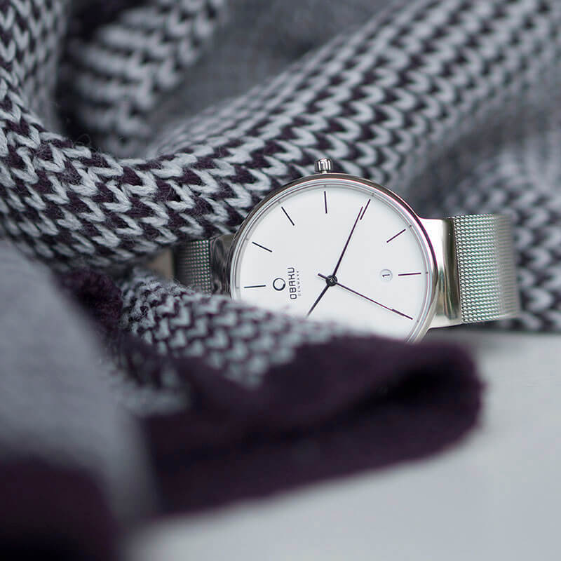Obaku Men watch KLAR - STEEL SM2 view