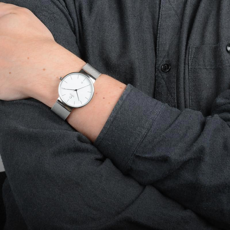 Obaku Men watch KLAR - STEEL WRIST view