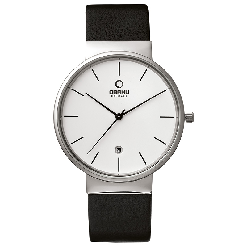Obaku Men watch KLAR - BLACK FRONT view