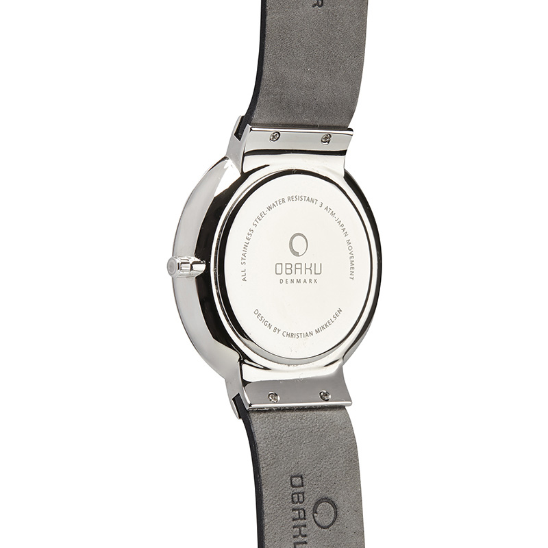 Obaku Men watch KLAR - BLACK BACK view