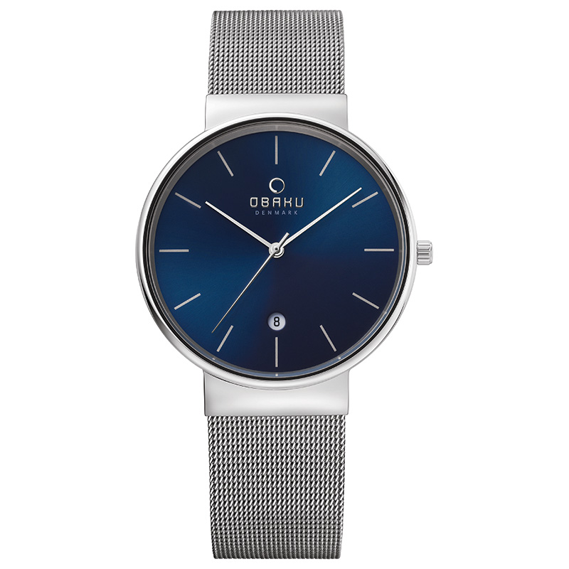 Obaku Men watch KLAR - CYAN FRONT view