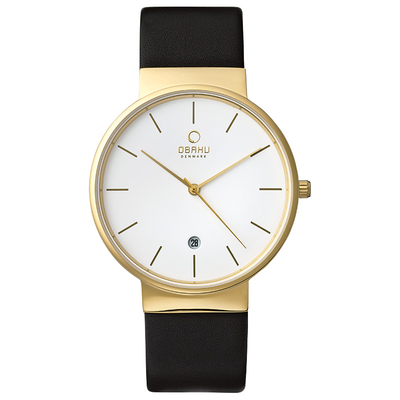 Obaku Men watch KLAR - MOON FRONT view