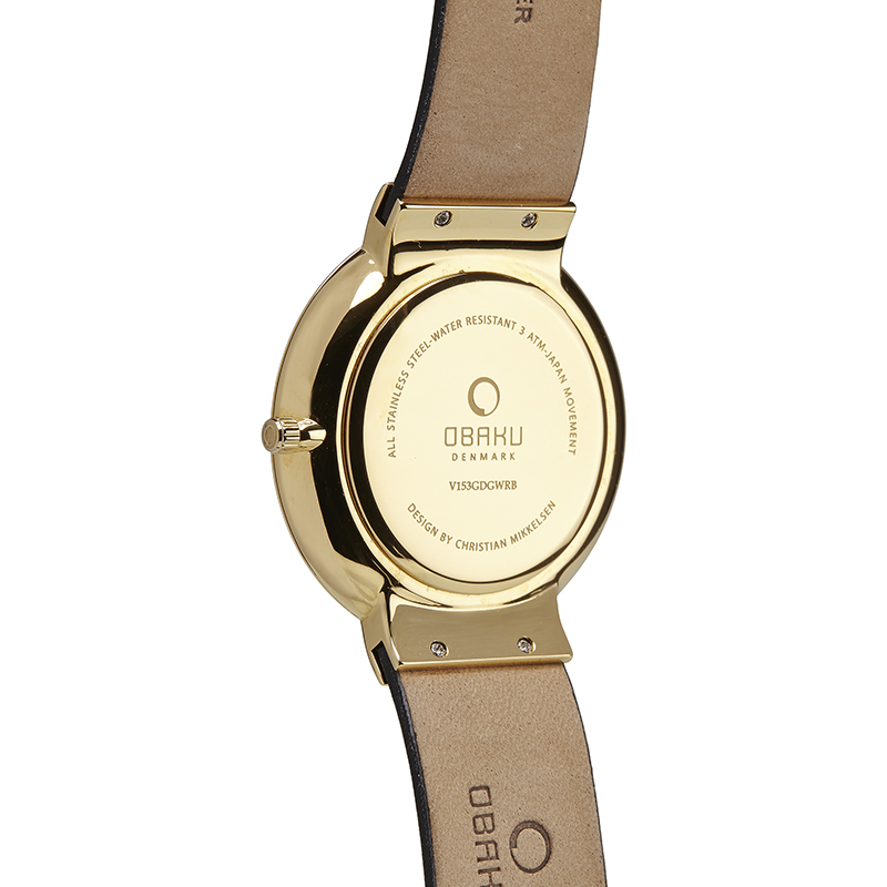 Obaku Men watch KLAR - MOON BACK view