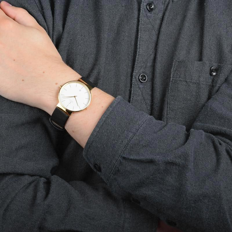 Obaku Men watch KLAR - MOON WRIST view