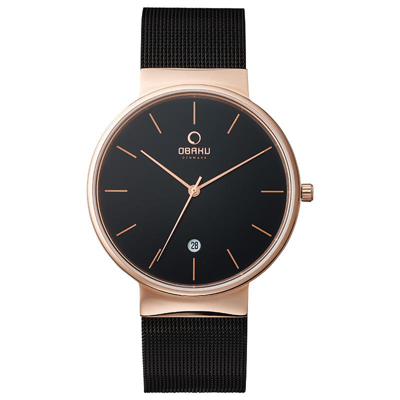Obaku Men watch KLAR - NIGHT FRONT view