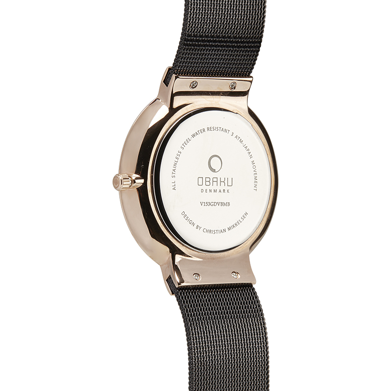 Obaku Men watch KLAR - NIGHT BACK view