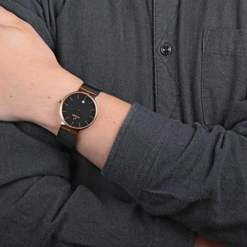 Obaku Men watch KLAR - NIGHT WRIST view