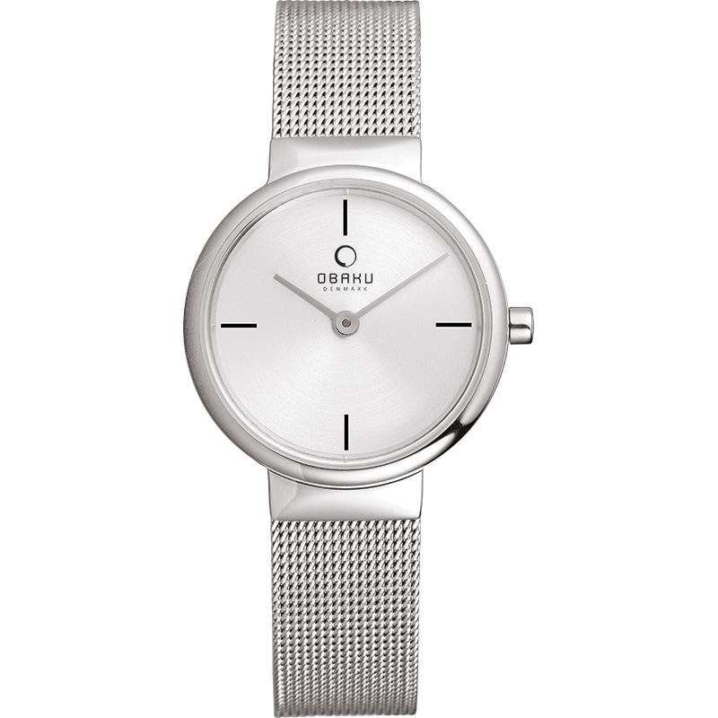 Obaku Women watch KLAR LILLE - STEEL FRONT view