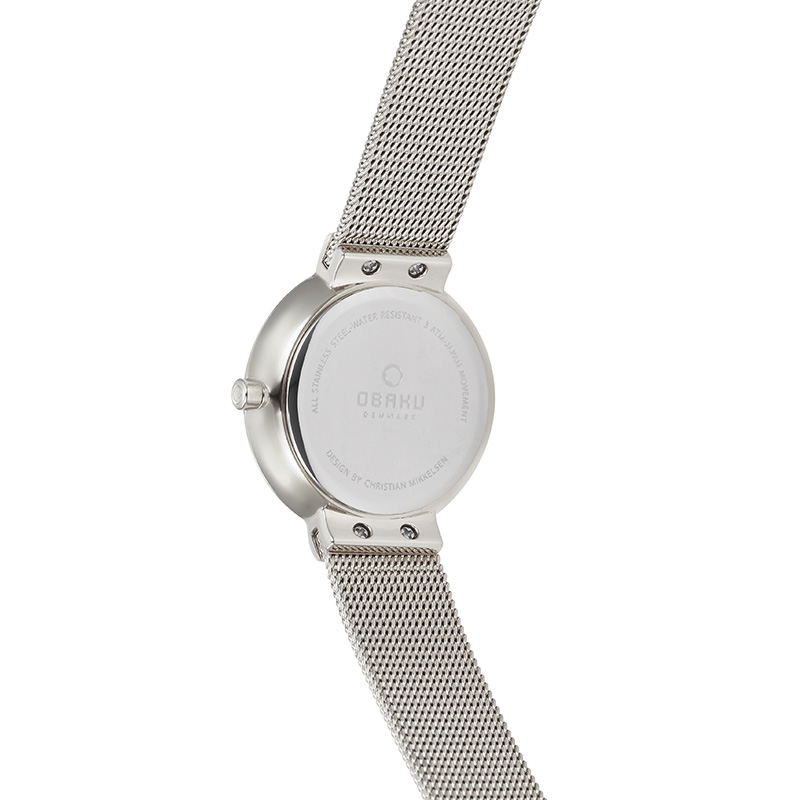 Obaku Women watch KLAR LILLE - STEEL BACK view
