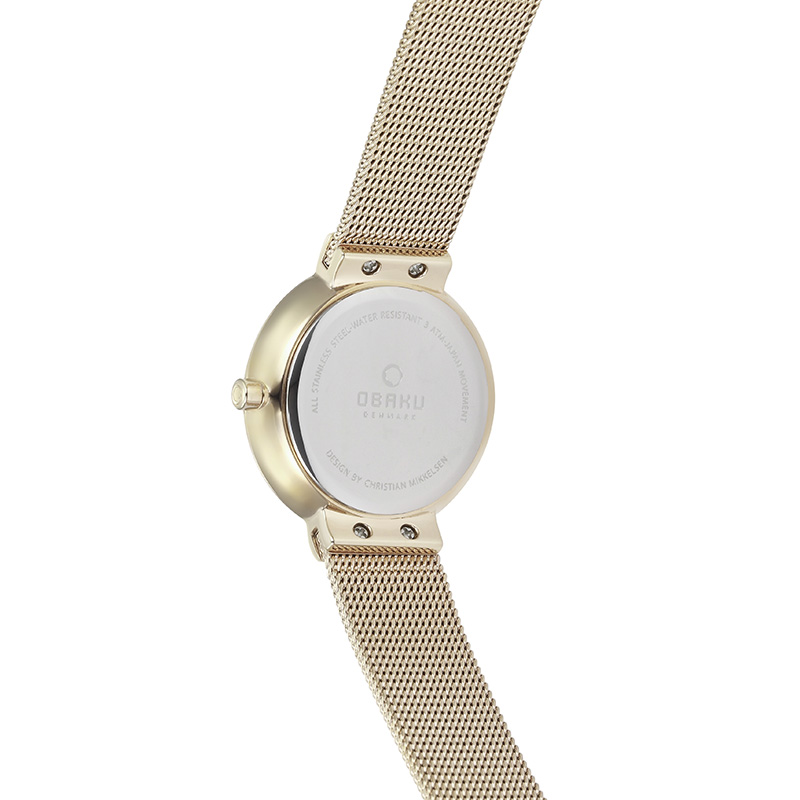 Obaku Women watch KLAR LILLE - GOLD BACK view