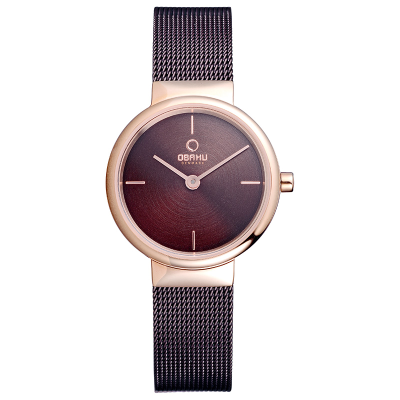 Obaku Women watch KLAR LILLE - WALNUT FRONT view
