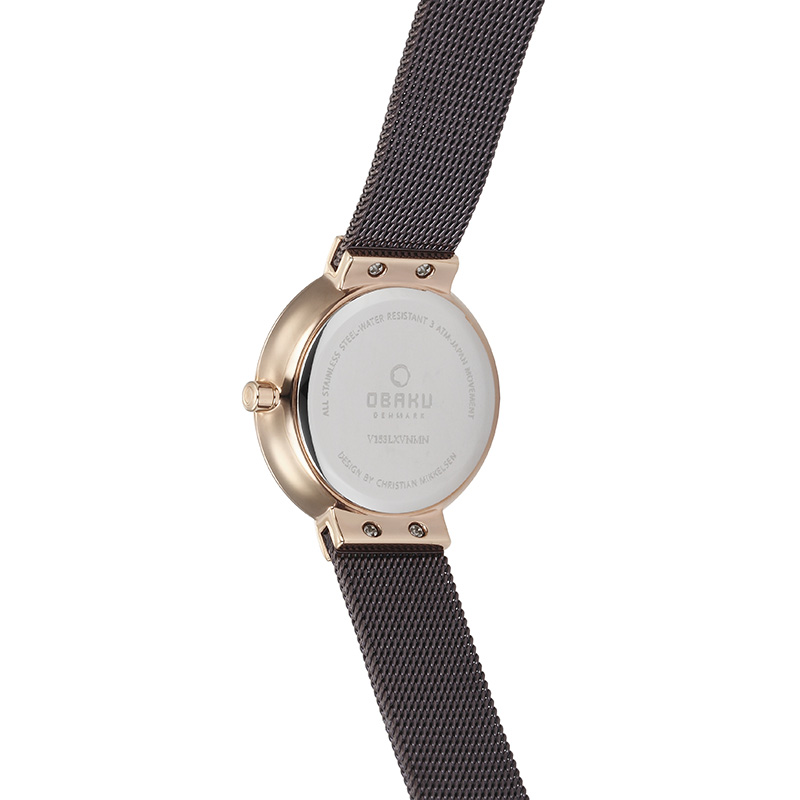 Obaku Women watch KLAR LILLE - WALNUT BACK view