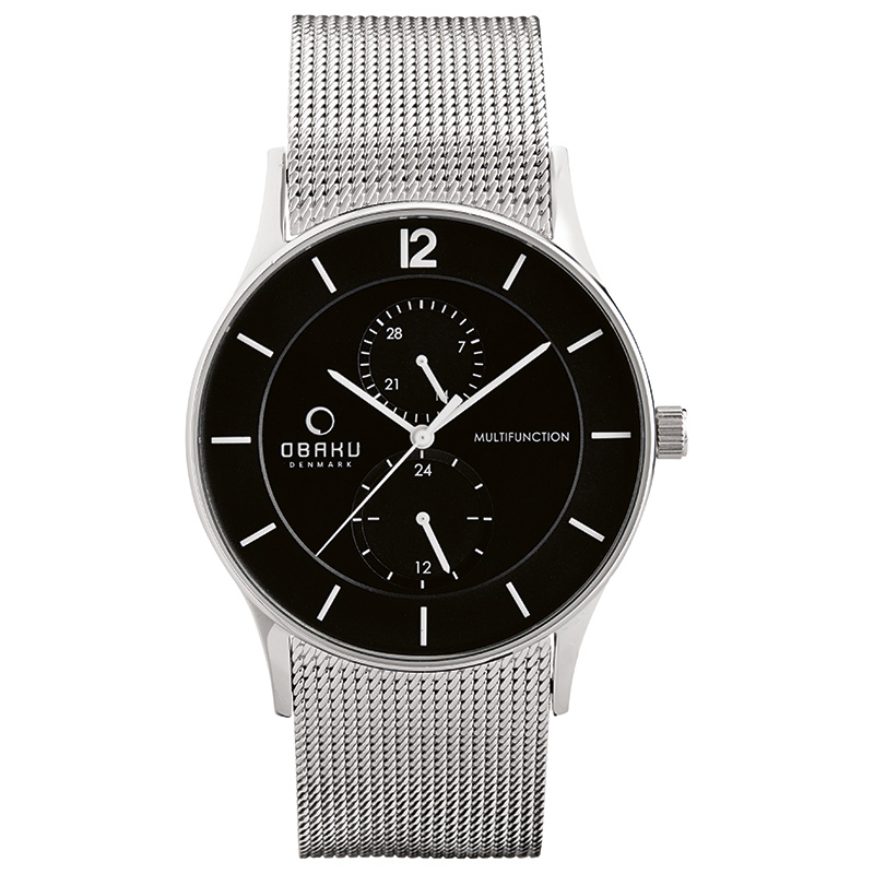 Obaku Men watch TORDEN - ONYX FRONT view