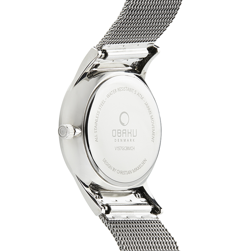Obaku Men watch TORDEN - ONYX BACK view