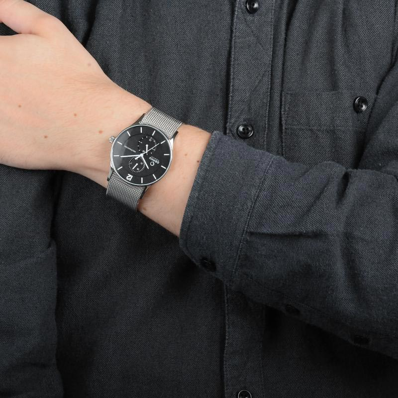 Obaku Men watch TORDEN - ONYX WRIST view
