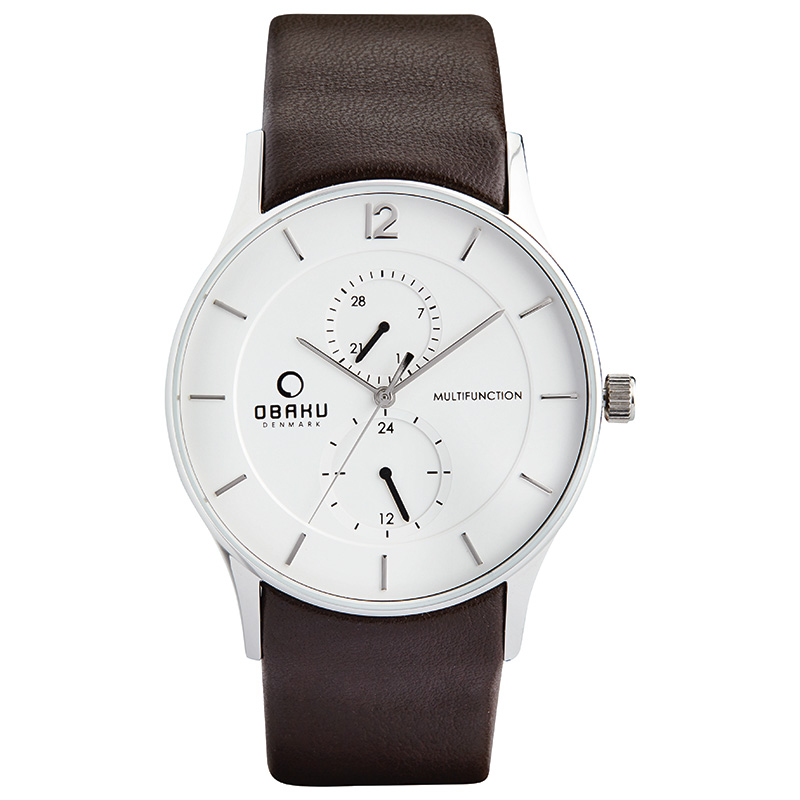 Obaku Men watch TORDEN - MOCHA FRONT view