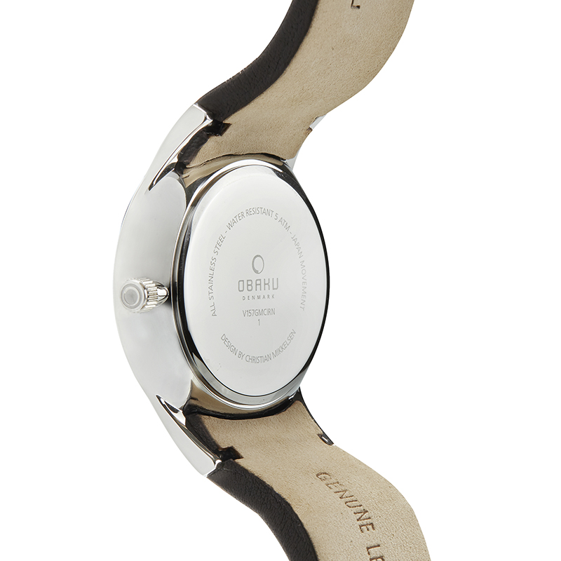 Obaku Men watch TORDEN - MOCHA BACK view
