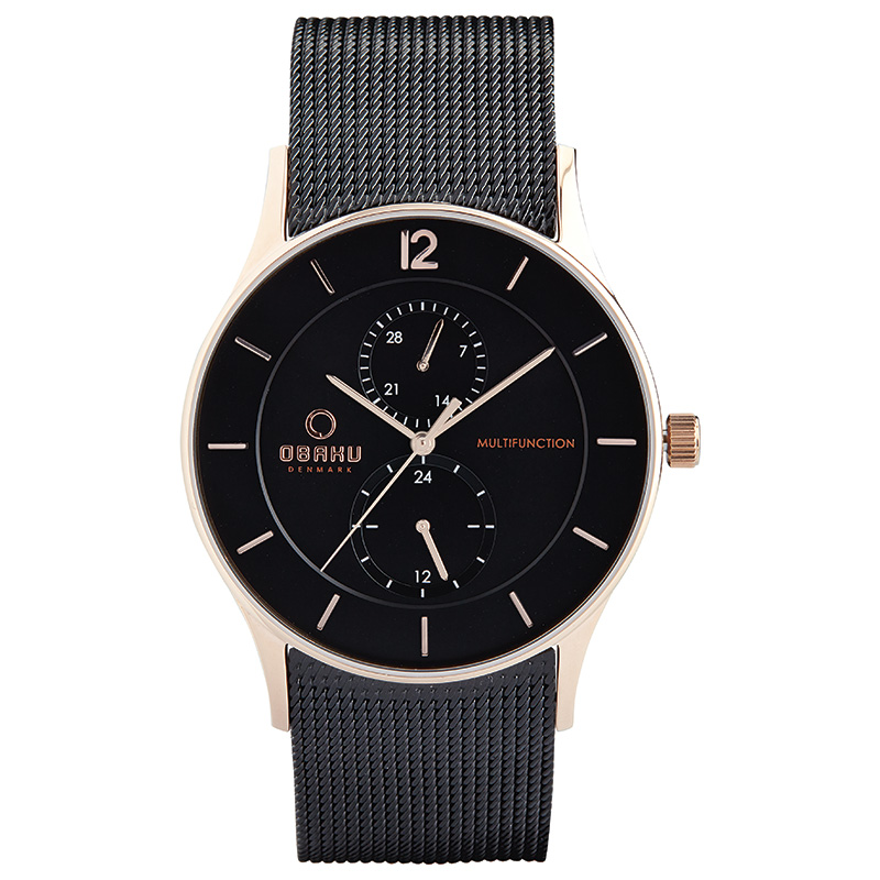 Obaku Men watch TORDEN - NIGHT FRONT view