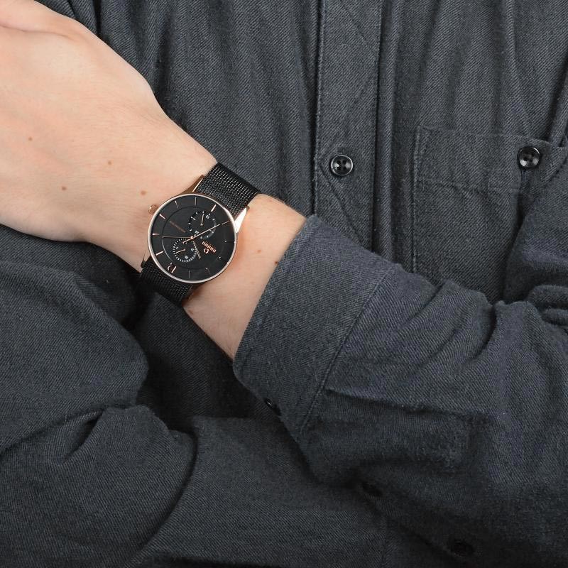 Obaku Men watch TORDEN - NIGHT WRIST view