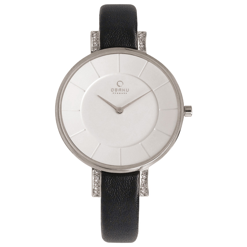 Obaku Women watch LUN - BLACK FRONT view