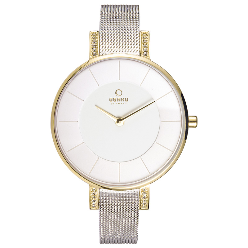 Obaku Women watch LUN - GOLD BI FRONT view