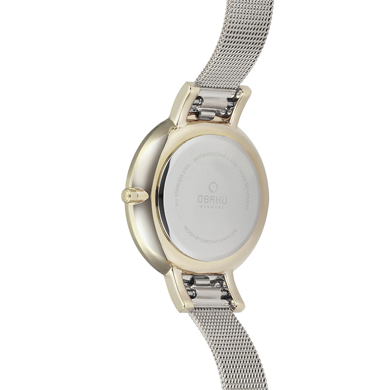 Obaku Women watch LUN - GOLD BI BACK view