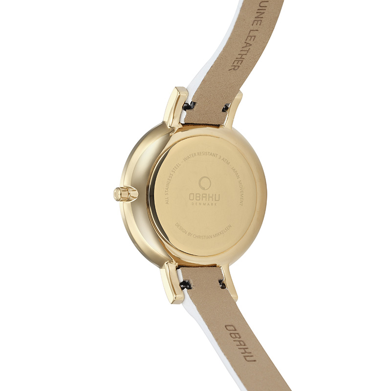 Obaku Women watch LUN - COTTON BACK view