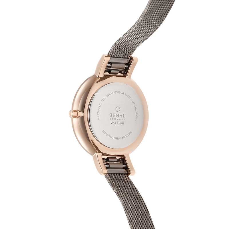 Obaku Women watch LUN - GRANITE BACK view