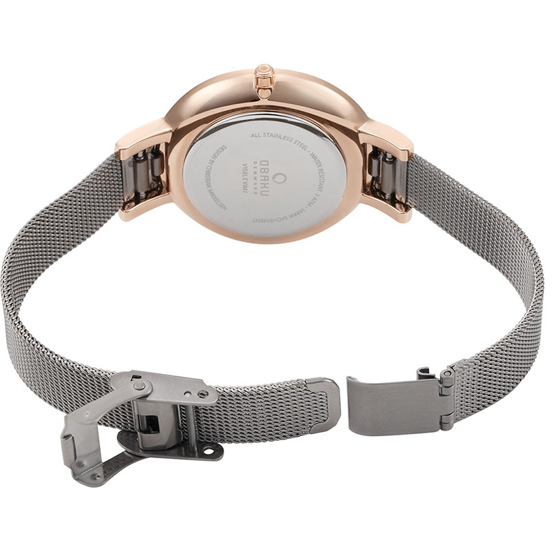 Obaku Women watch LUN - GRANITE OPEN view
