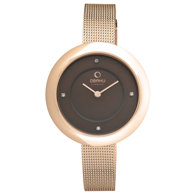 Obaku Women watch LYNG - WALNUT FRONT view