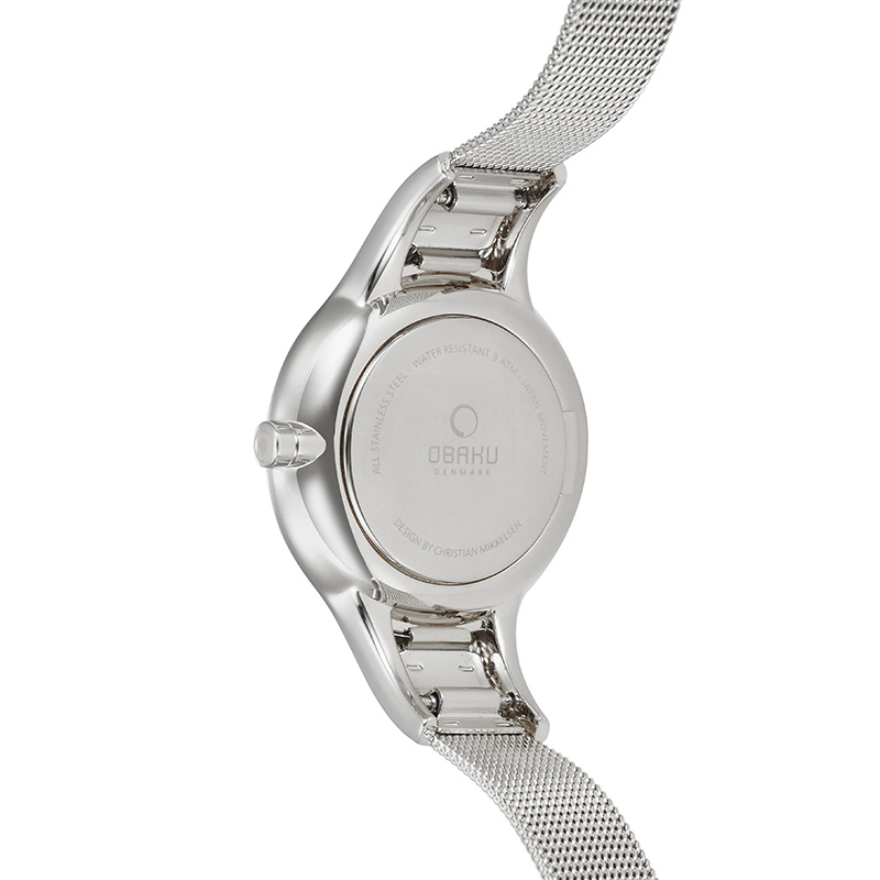 Obaku Women watch DIS - STEEL BACK view