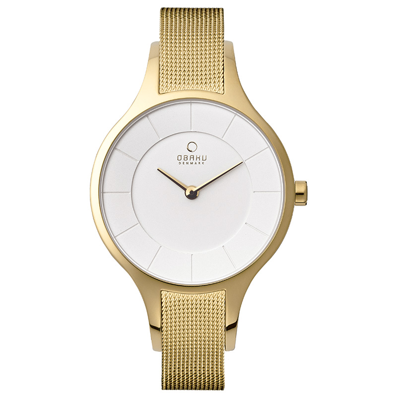 Obaku Women watch DIS - GOLD FRONT view