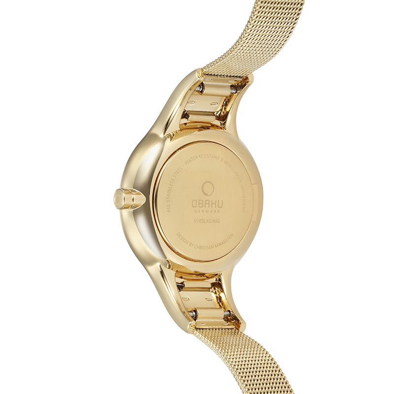 Obaku Women watch DIS - GOLD BACK view