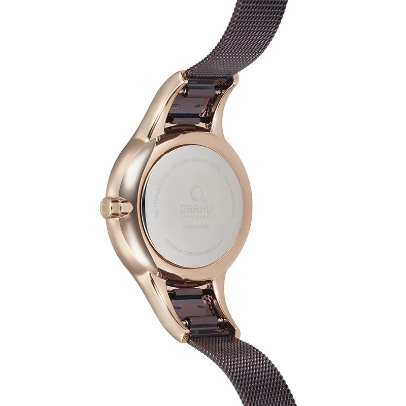Obaku Women watch DIS - WALNUT BACK view
