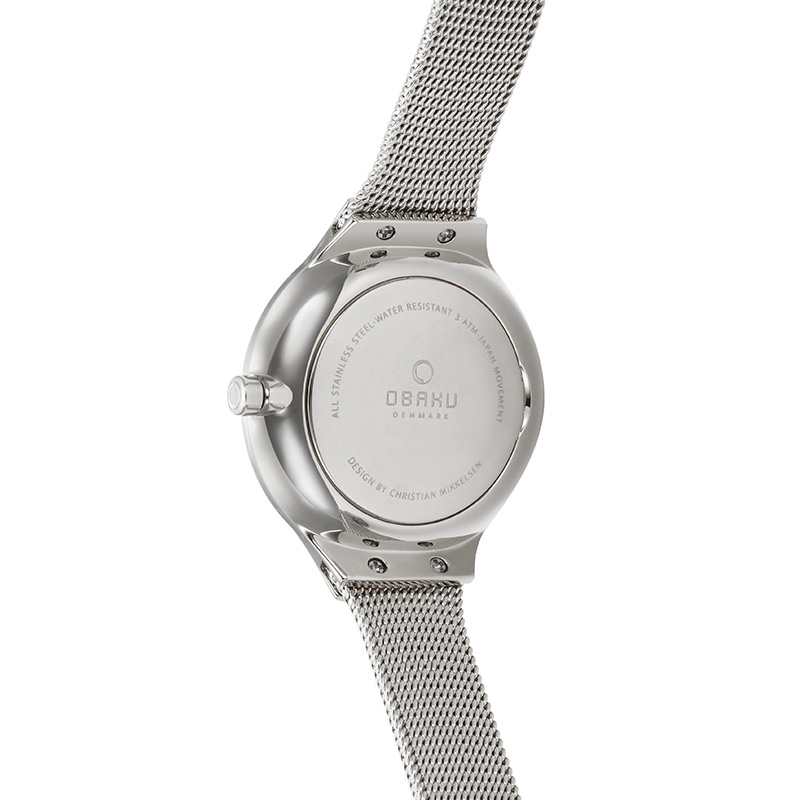 Obaku Women watch EKKO - STEEL BACK view