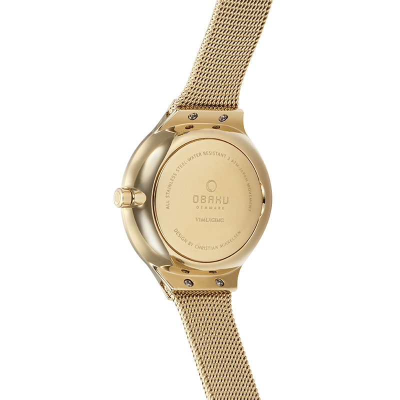 Obaku Women watch EKKO - GOLD BACK view