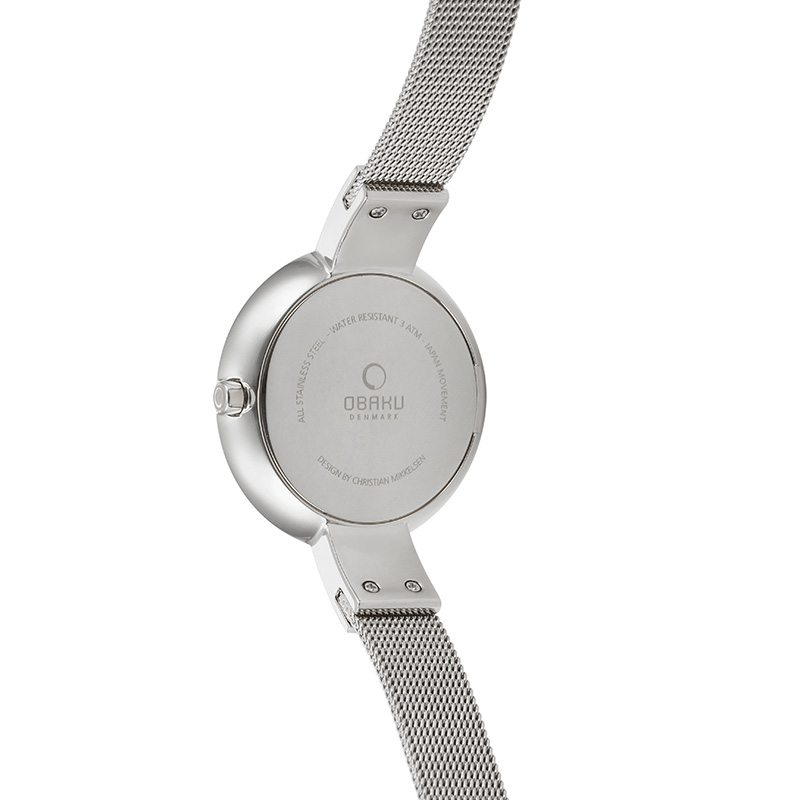 Obaku Women watch HIMMEL - STEEL BACK view