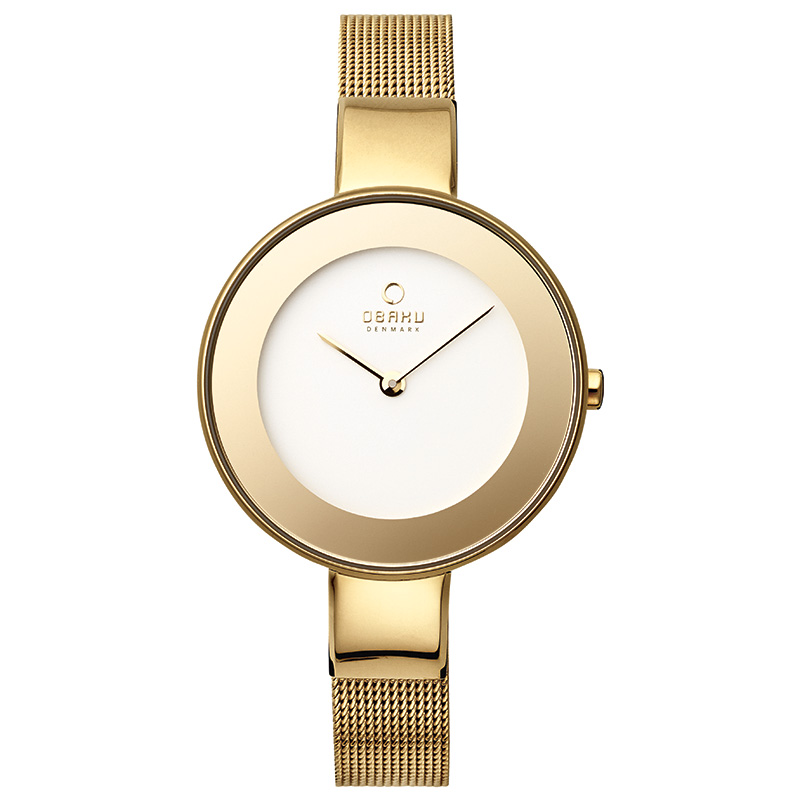 Obaku Women watch HIMMEL - GOLD FRONT view