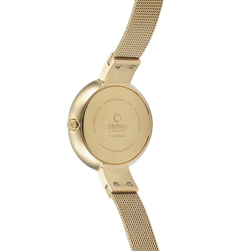 Obaku Women watch HIMMEL - GOLD BACK view
