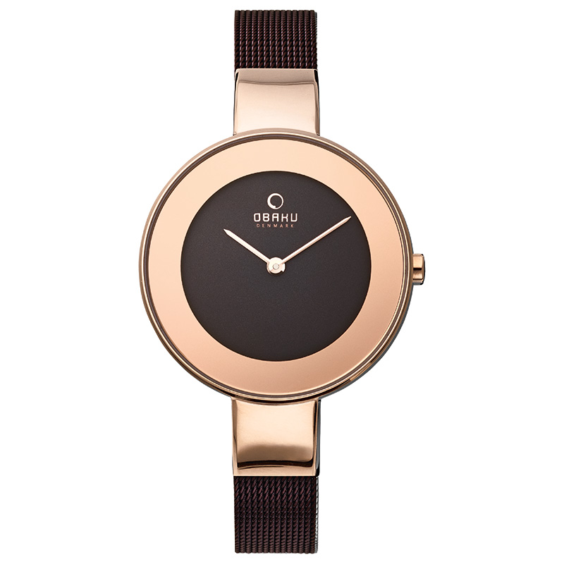 Obaku Women watch HIMMEL - WALNUT FRONT view