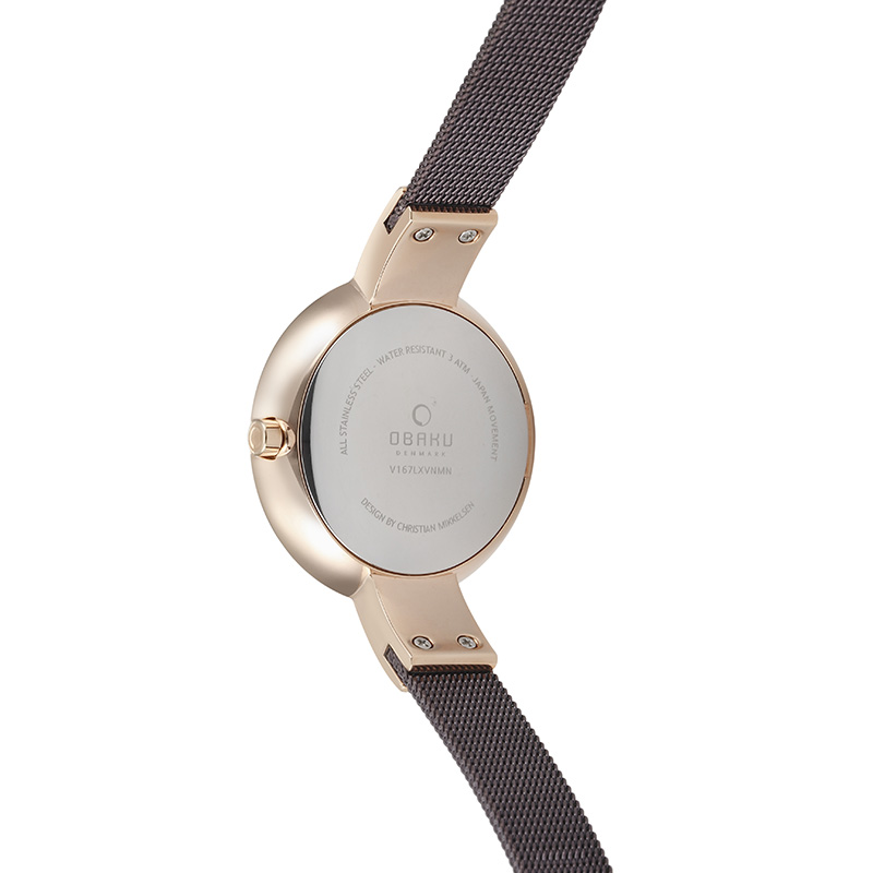 Obaku Women watch HIMMEL - WALNUT BACK view