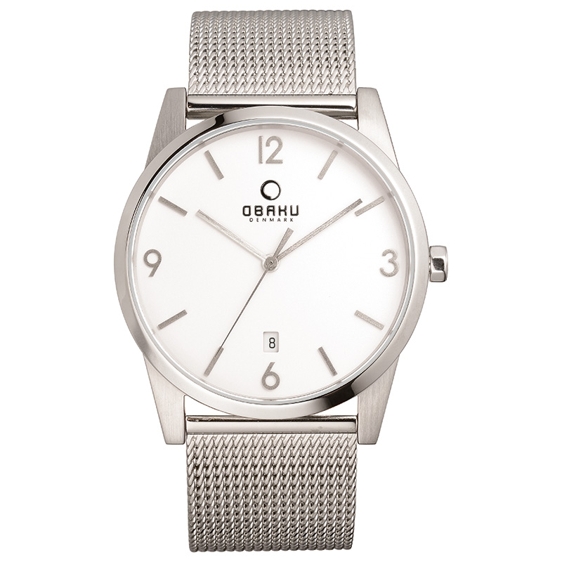 Obaku Men watch STEN - STEEL FRONT view