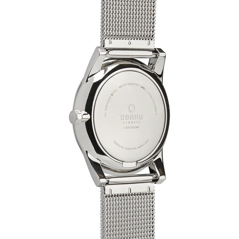 Obaku Men watch STEN - STEEL BACK view