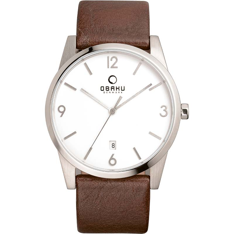 Obaku Men watch STEN - MOCHA FRONT view