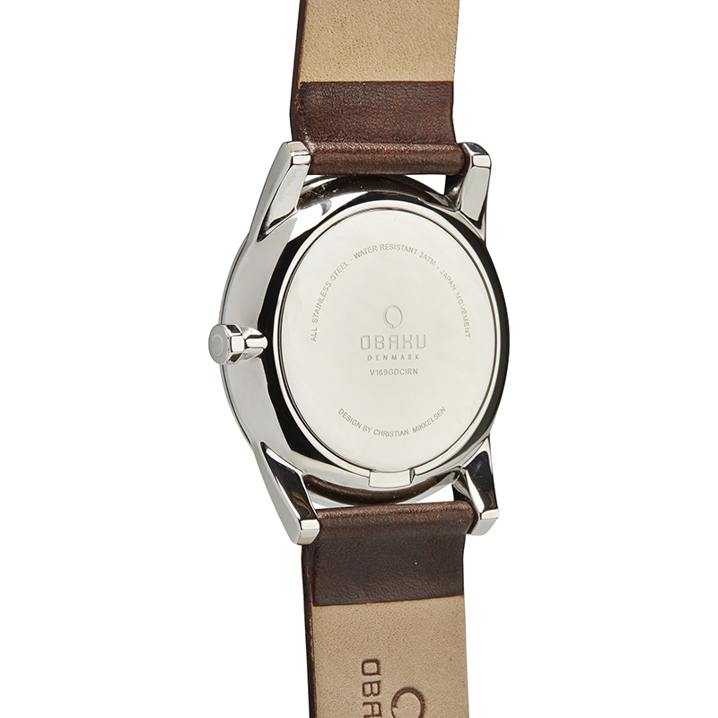 Obaku Men watch STEN - MOCHA BACK view