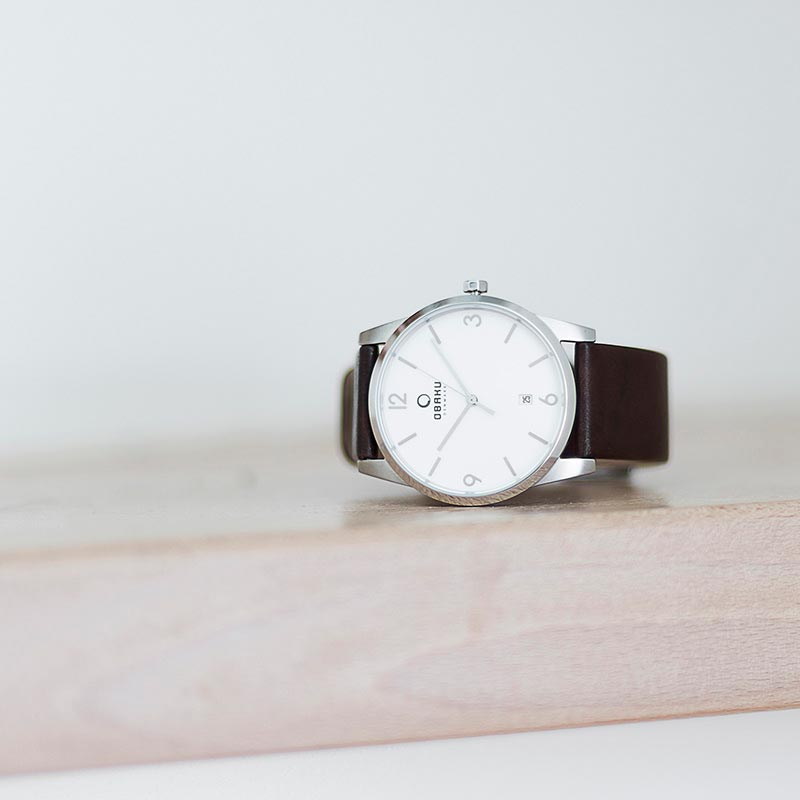 Obaku Men watch STEN - MOCHA SM1 view