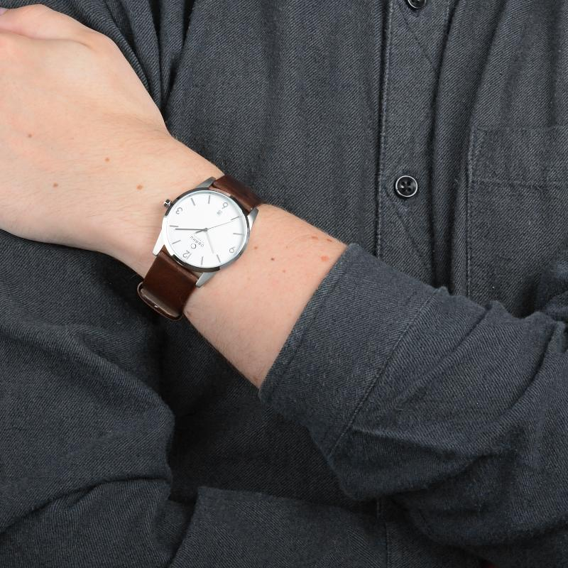 Obaku Men watch STEN - MOCHA SM3 view