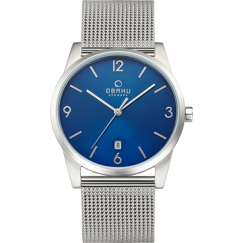 Obaku Men watch STEN - CYAN FRONT view